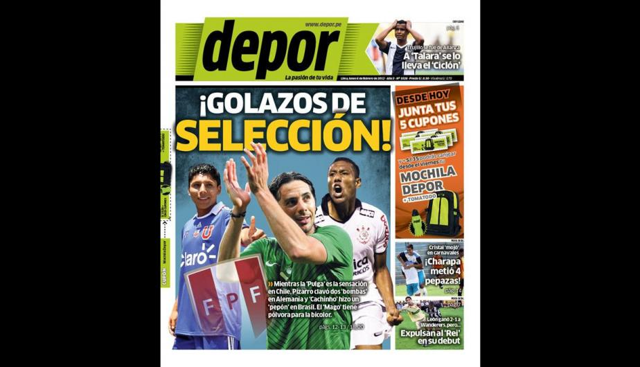 Kiosko Deportivo: Claudio Pizarro y Luis Ram&iacute;rez en las portadas