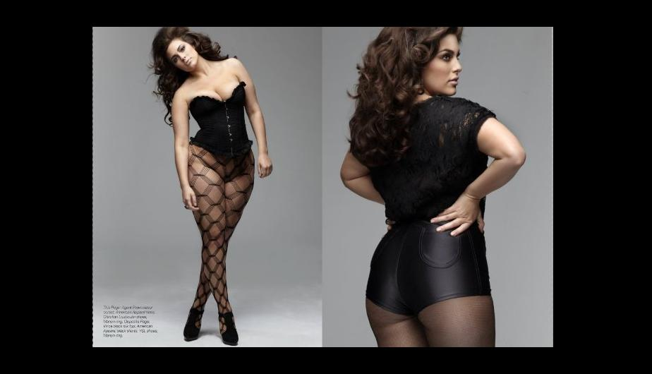 Ashley Graham es una modelo de lencería de la marca Lane Bryant.(Foto:Web)