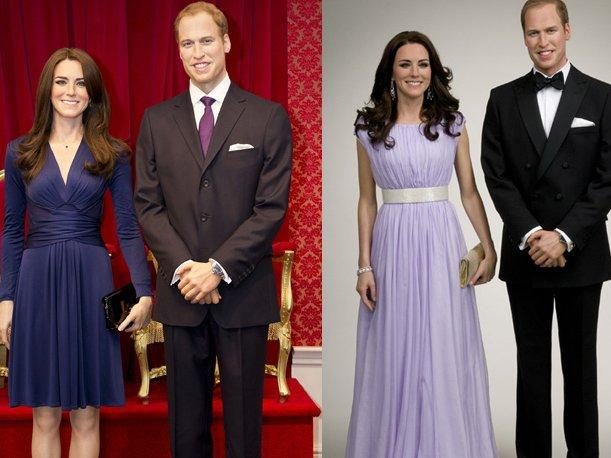 Kate Middleton y el Príncipe Guillermo en tamaño real