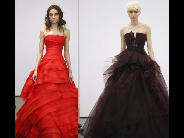 Los vestidos de novia rojos de Vera Wang