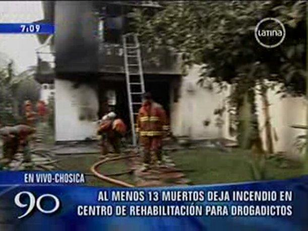 VIDEO: Bomberos rompieron puertas para ingresar a centro de rehabilitaci&oacute;n en Chosica 