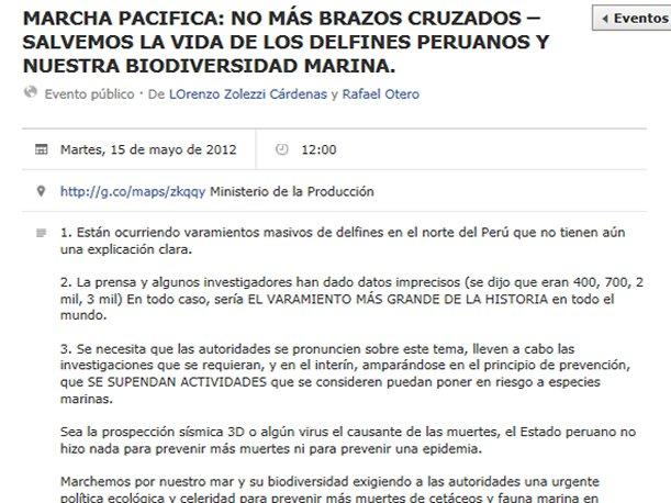 Convocan en Facebook marcha para exigir a autoridades explicar muerte de delfines  