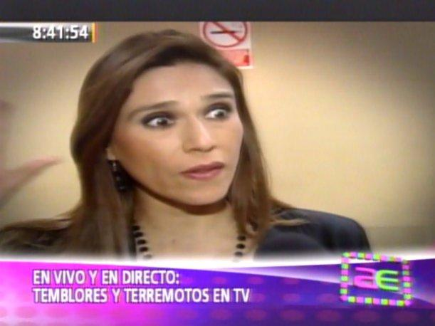 VIDEO: Cuando un sismo sorprende en vivo a conductores de TV