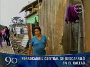 VIDEO: Ferrocarril Central se descarrila y vagón cae sobre casa en el Callao