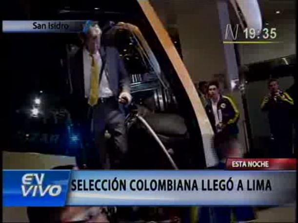 VIDEO: Selecci&oacute;n colombiana llega a Lima con Radamel Falcao
