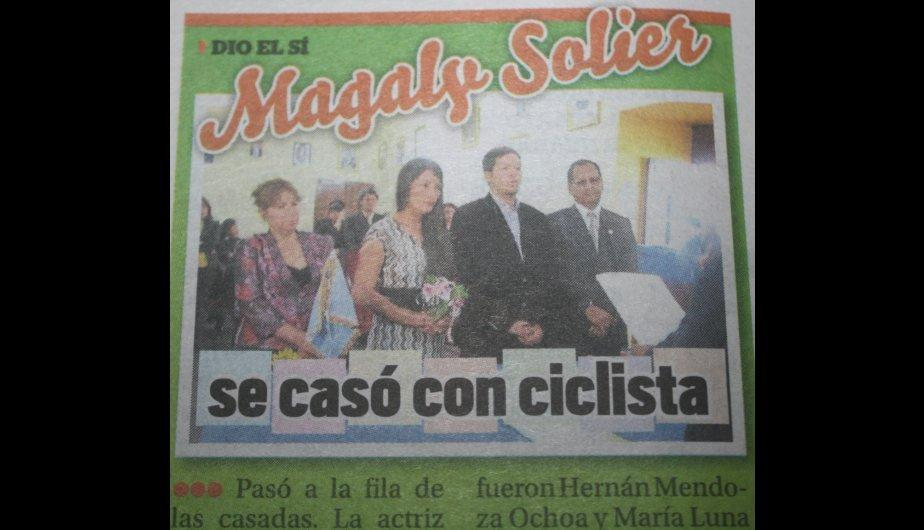 Kiosko Farandulero: Magaly Solier contrajo matrimonio civil en Ayacucho