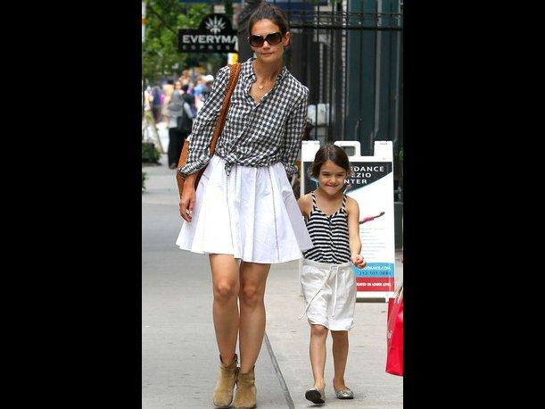 Katie Holmes y Suri Cruise llevan el gusto por la moda en su ADN