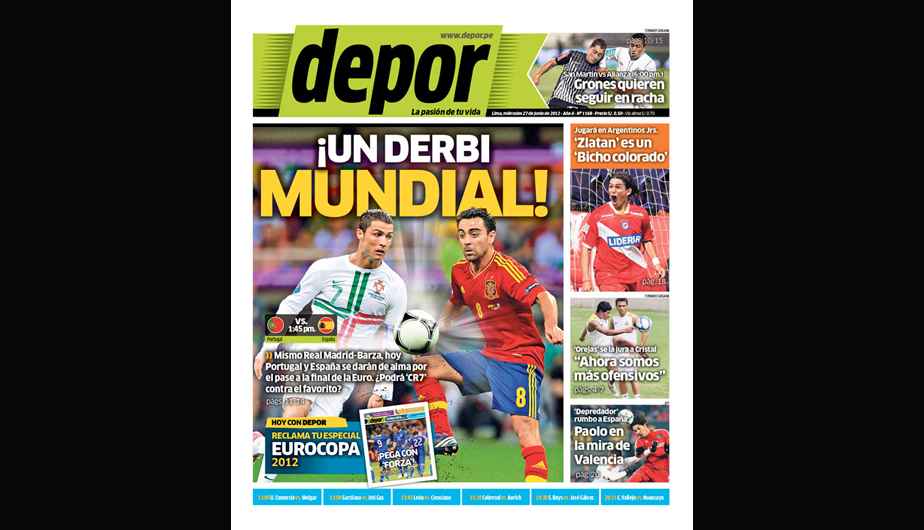 FOTOS: La Eurocopa y Jos&eacute; Carlos Fern&aacute;ndez en las portadas