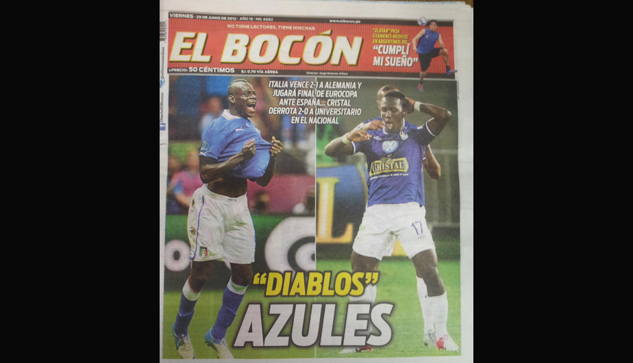 Kiosko Deportivo: Sporting Cristal e Italia en las portadas