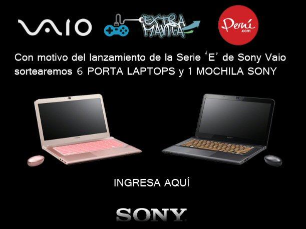 Ganadores del sorteo de 6 Porta Laptops Vaio y una Mochila Sony