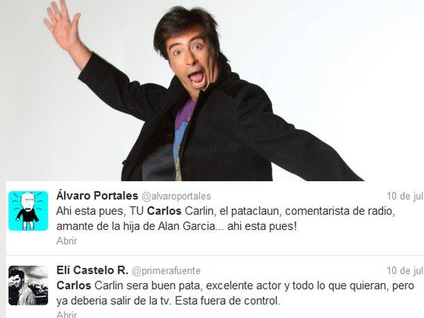 Carlos Carl&iacute;n recibe insultos en Twitter tras emitir vergonzoso reportaje en La Noche es M&iacute;a