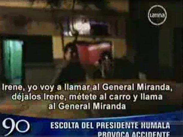 VIDEO: Escolta de Ollanta Humala provoca accidente de tr&aacute;nsito
