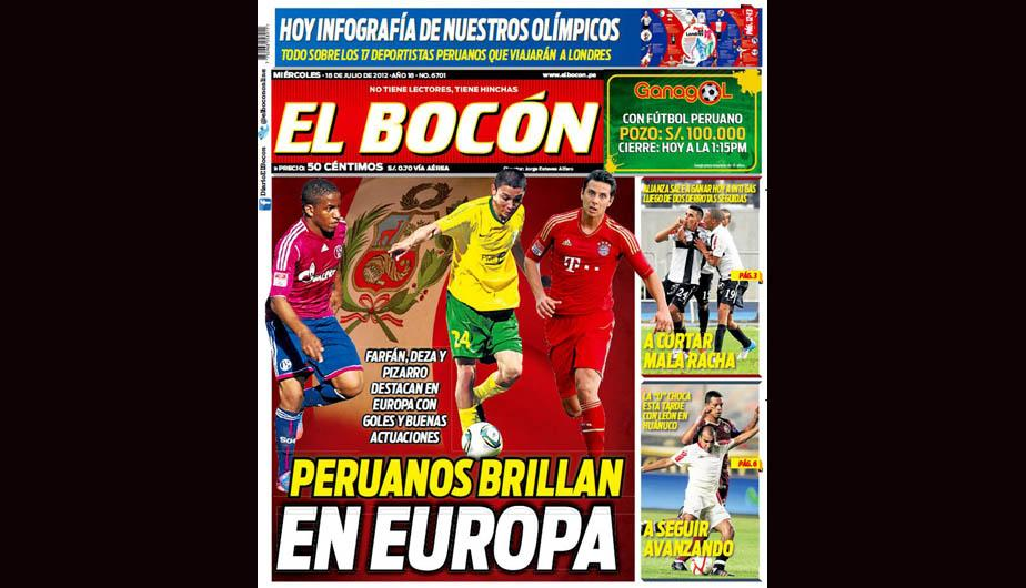 Kiosko Deportivo: Jefferson Farf&aacute;n y Claudio Pizarro en portadas