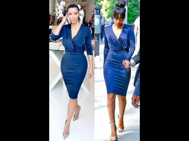 Duelo fashion: Kim Kardashian Vs. Rihanna &iquest;Qui&eacute;n lo lleva mejor?