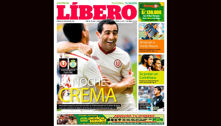 Kiosko Deportivo: Universitario de Deportes en portadas