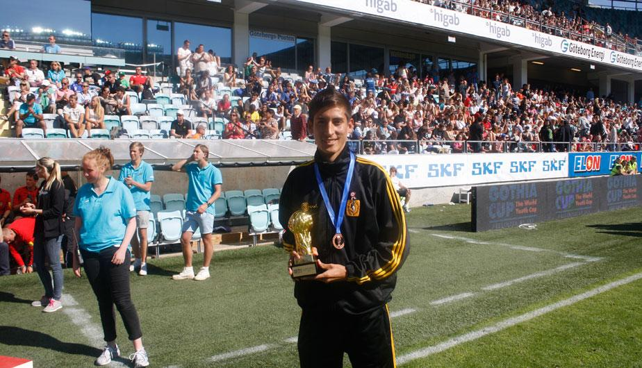 Cantolao fue premiado en la final de la Gothia Cup (FOTOS)