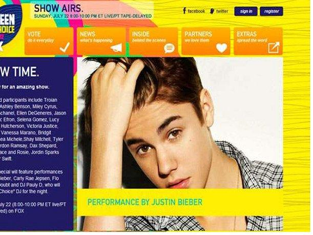 Justin Bieber triunf&oacute; en los Teen Choice Awards (VIDEO)
