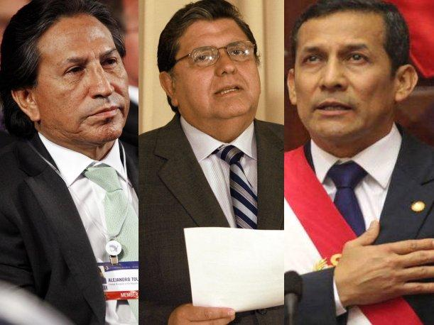 Ollanta Humala, Alan Garc&iacute;a y Alejandro Toledo perdieron popularidad en su primer a&ntilde;o 