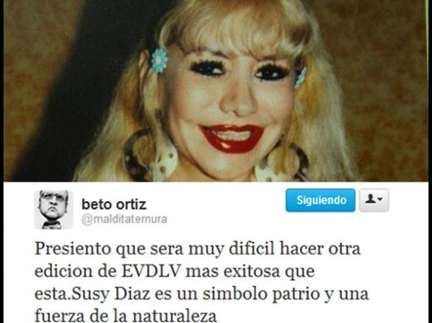 Beto Ortiz: &quot;Susy D&iacute;az es un s&iacute;mbolo patrio&quot; 