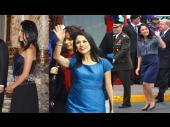 Los tres looks color azul de Nadine Heredia en Fiestas Patrias (FOTOS)