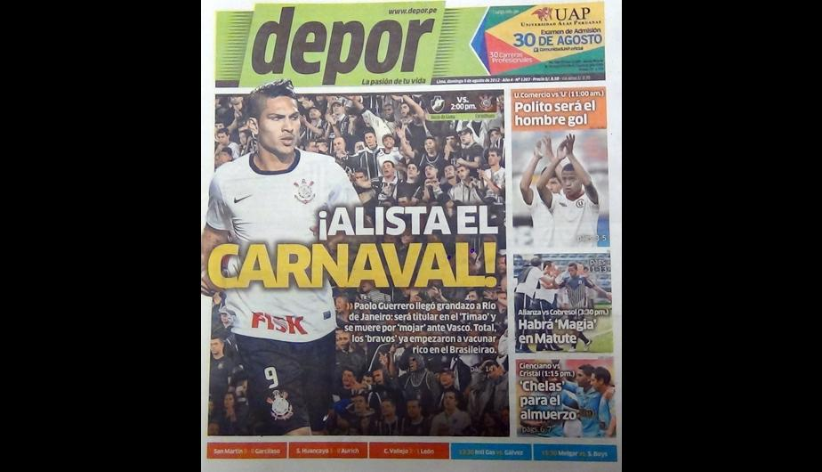 Kiosko Deportivo: Paolo Guerrero y Ra&uacute;l Ruid&iacute;az en portadas 