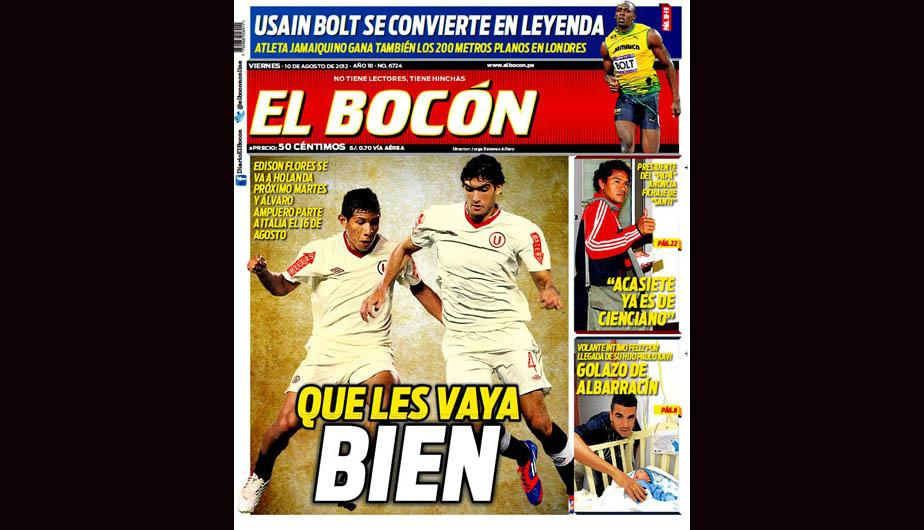 Kiosko Deportivo: Partida de Edison Flores a Holanda acapara portadas