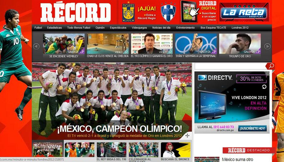 Londres 2012: Prensa mexicana euf&oacute;rica por el oro en f&uacute;tbol masculino (FOTOS)