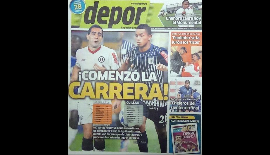 Kiosko deportivo: El sorteo de las Liguillas y la &ldquo;suerte&rdquo; de Sporting Cristal