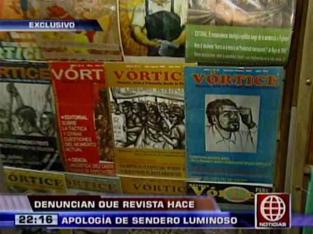 Denuncian que la revista Vórtice hace apología a Sendero Luminoso (VIDEO)