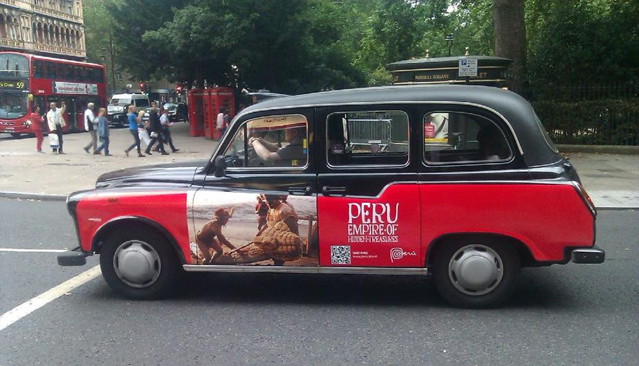 Campa&ntilde;a &quot;Peru Empire of Hidden Treasures&quot; invade Londres (FOTOS)
