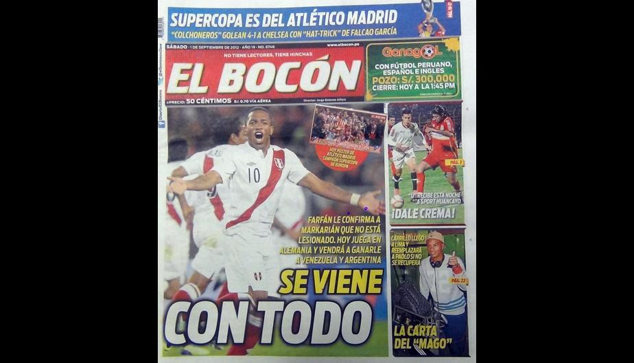 Kiosko Deportivo: Jefferson Farf&aacute;n acapara las portadas 