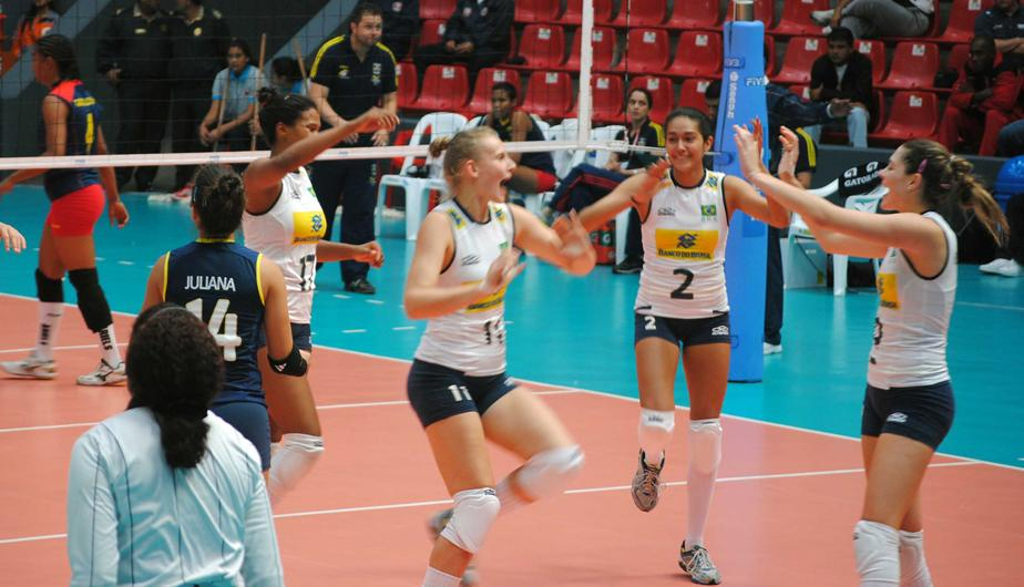 Brasil se impuso sobre Colombia en Panamericano de V&oacute;ley (FOTOS)