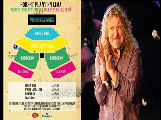 Conoce cu&aacute;nto te costar&iacute;a ir a ver a Robert Plant
