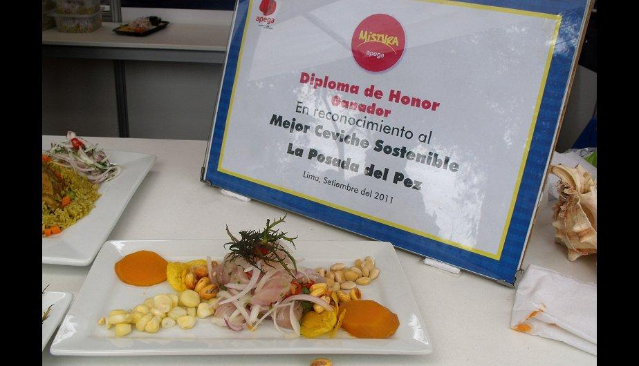Cebiche sostenible ganador del 2011 se luce en Mistura 2012 (FOTOS)