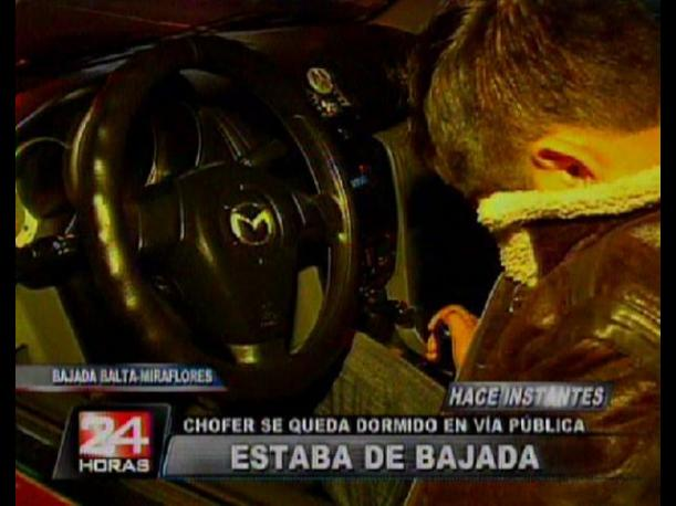 Miraflores: Conductor ebrio se queda dormido al volante en plena Bajada Balta (VIDEO)