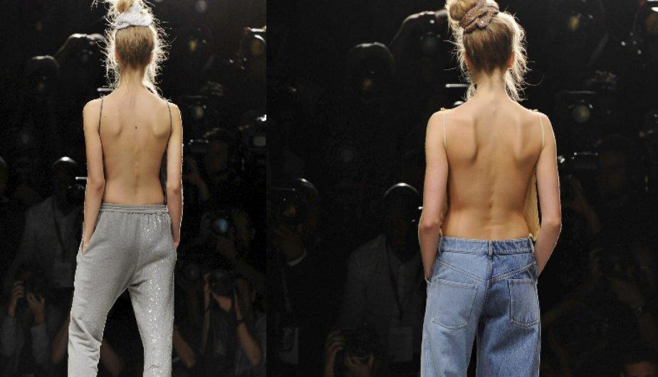London Fashion Week: Modelos semi desnudas se apoderan de la pasarela (FOTOS)