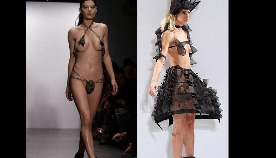London Fashion Week: Pam Hogg &quot;desnuda&quot; a modelos en la pasarela (FOTOS)