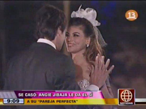 Angie Jibaja contrae matrimonio en reality Pareja Perfecta (VIDEO)