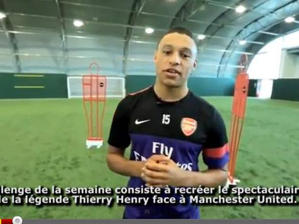 Alex Oxlade-Chamberlain intenta imitar &#039;golazo&#039; de Thierry Henry