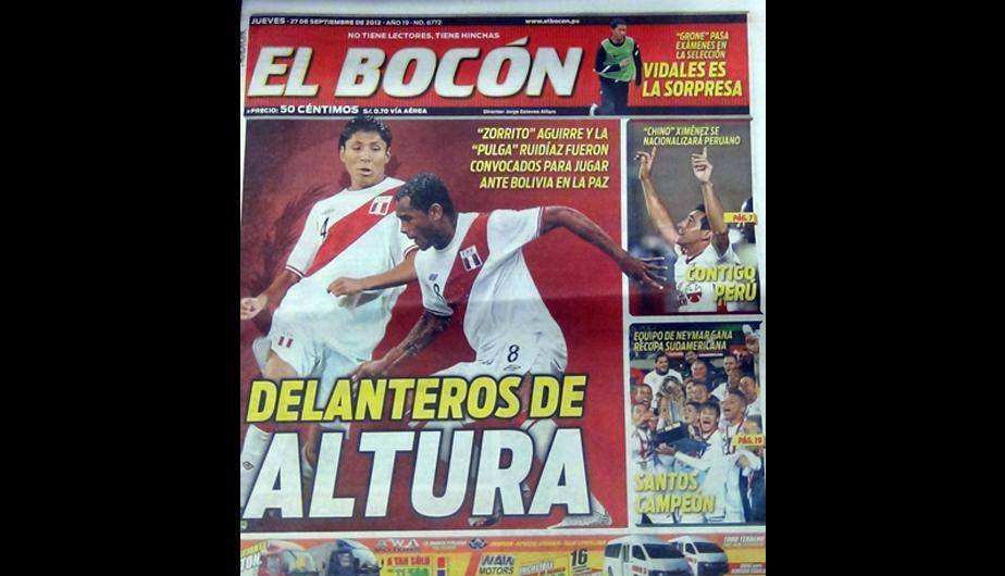 Kiosko Deportivo: La Selecci&oacute;n Peruana en las portadas