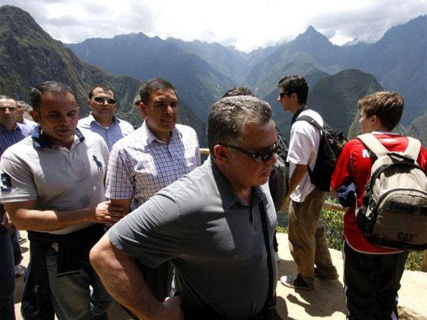 Rey de Jordania qued&oacute; maravillado con Machu Picchu tras visitar la ciudadela