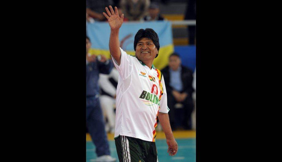 Vea las mejores jugadas del presidente Evo Morales en el coliseo de Miraflores (FOTOS)