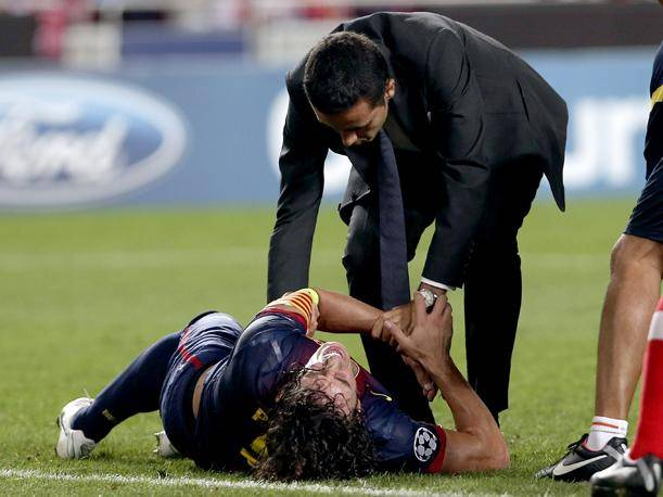 Carles Puyol: As&iacute; fue la grave lesi&oacute;n del capit&aacute;n del Barcelona (VIDEO)