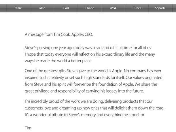 Apple le rinde un homenaje a Steve Jobs a un año de su fallecimiento (VIDEO)
