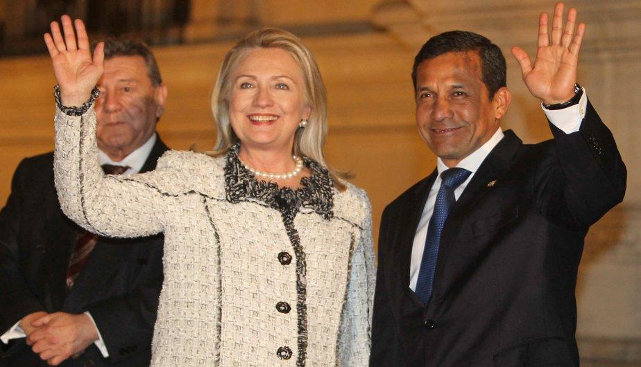 As&iacute; fue la reuni&oacute;n entre Ollanta Humala y Hillary Clinton en Palacio de Gobierno (FOTOS)