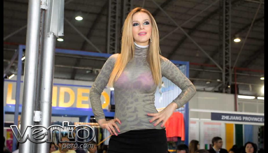 Expotextil: Bellas mujeres deslumbraron en el Jockey (FOTOS)