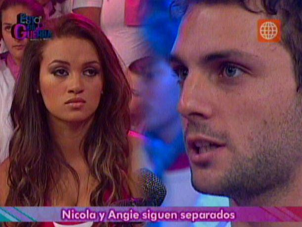 &quot;Esto es guerra&quot;: Nicola Porcella y Angie Arizaga terminaron su relaci&oacute;n al aire (VIDEO)