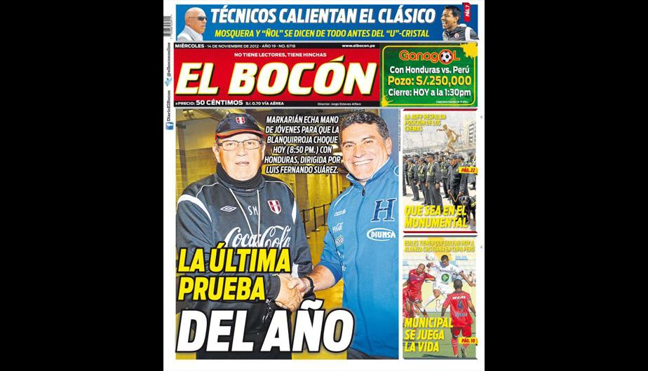 Kiosko Deportivo: Selecci&oacute;n Peruana en las portadas (FOTOS)