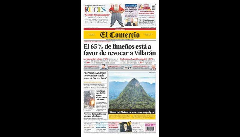 Mira aqu&iacute; las portadas de los principales diarios lime&ntilde;os (FOTOS)
