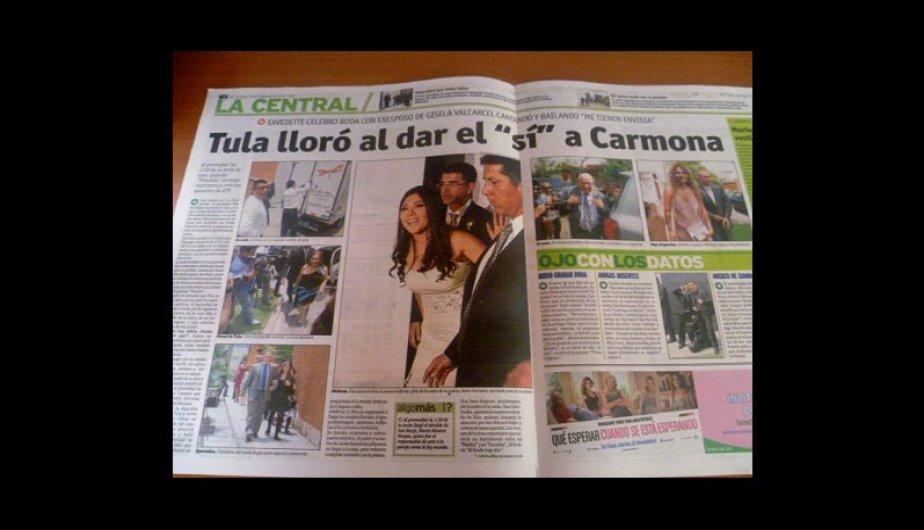 Kiosko Farandulero: Boda de Tula Rodr&iacute;guez es portada de los diarios (FOTOS)